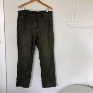 Lauren Ralph Lauren Green Straight Leg Pants